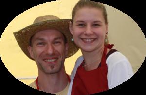 Mario und Stefanie Tatz von den FruchtTatzen