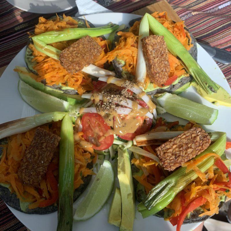 Vegan Tacos im Samsara in San Marcos la Laguna